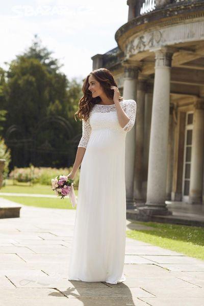 Těhotenské svatební šaty Lucia (Tiffany Rose) - Obrázek č. 1