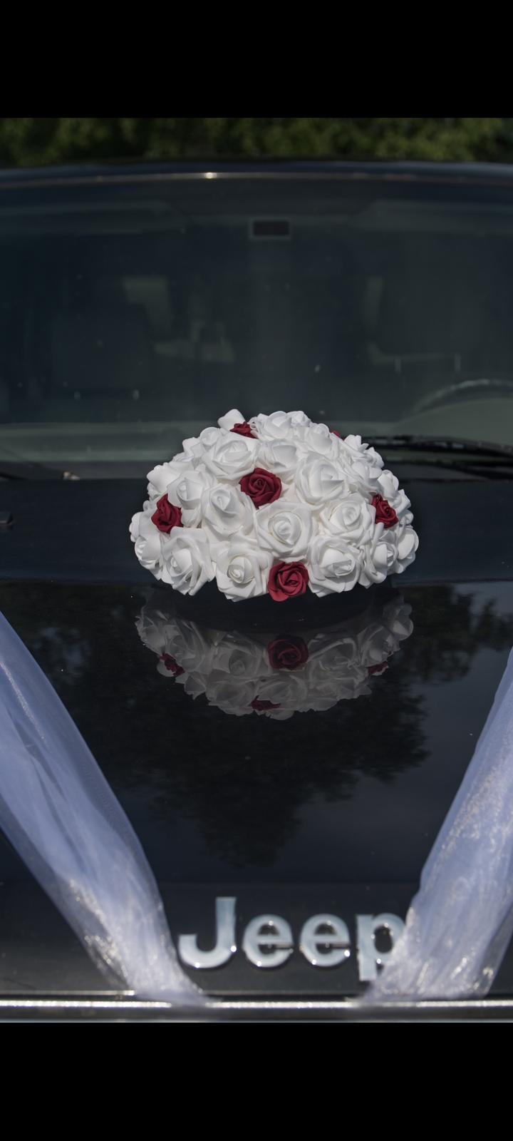 Dekorace na svatební  auto - Obrázek č. 1