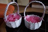 Okvětní lístky růží textilní,