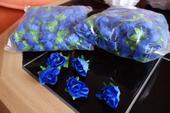 Malé růžičky textilní,