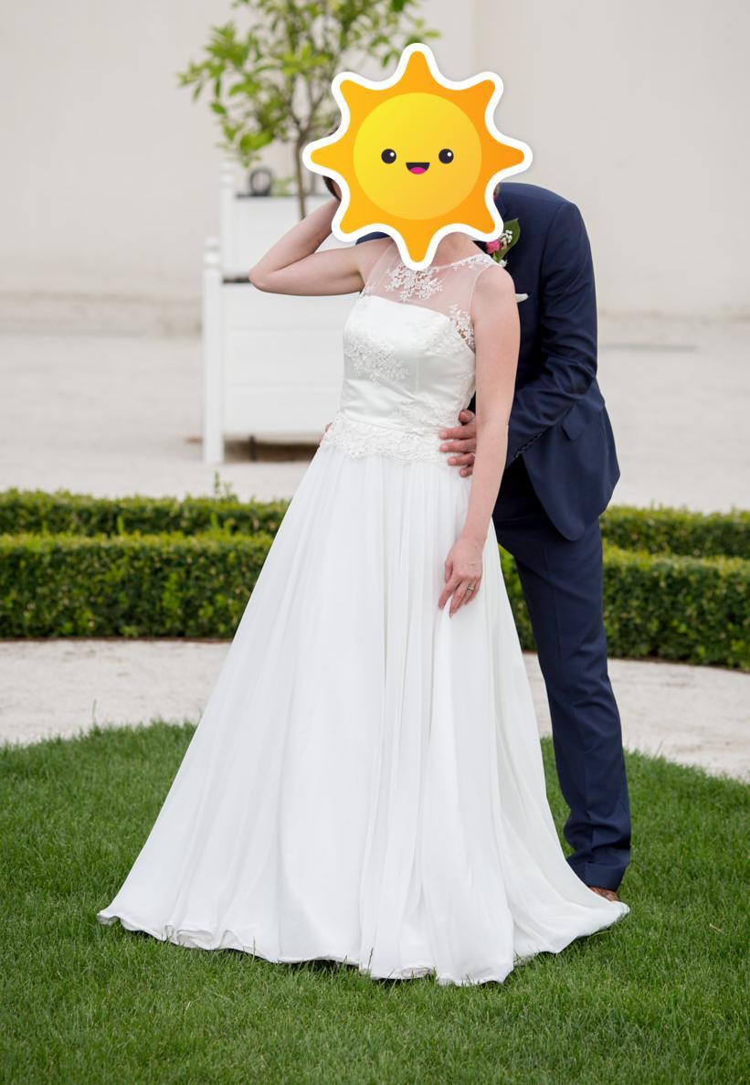 Svadobné šaty - IVORY - veľ. S - Obrázok č. 4