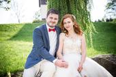 Svatební šaty s průsvitnou síťkou a krajkou , 38