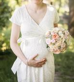Těhotenské svatební šaty Tiffany rose vel. 2 (M), 40