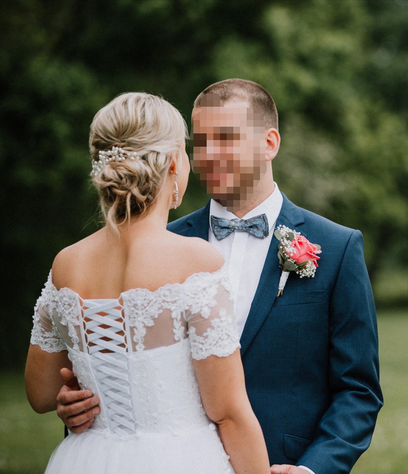 Nádherné svadobné šaty pre vyššiu postavu - Obrázok č. 3