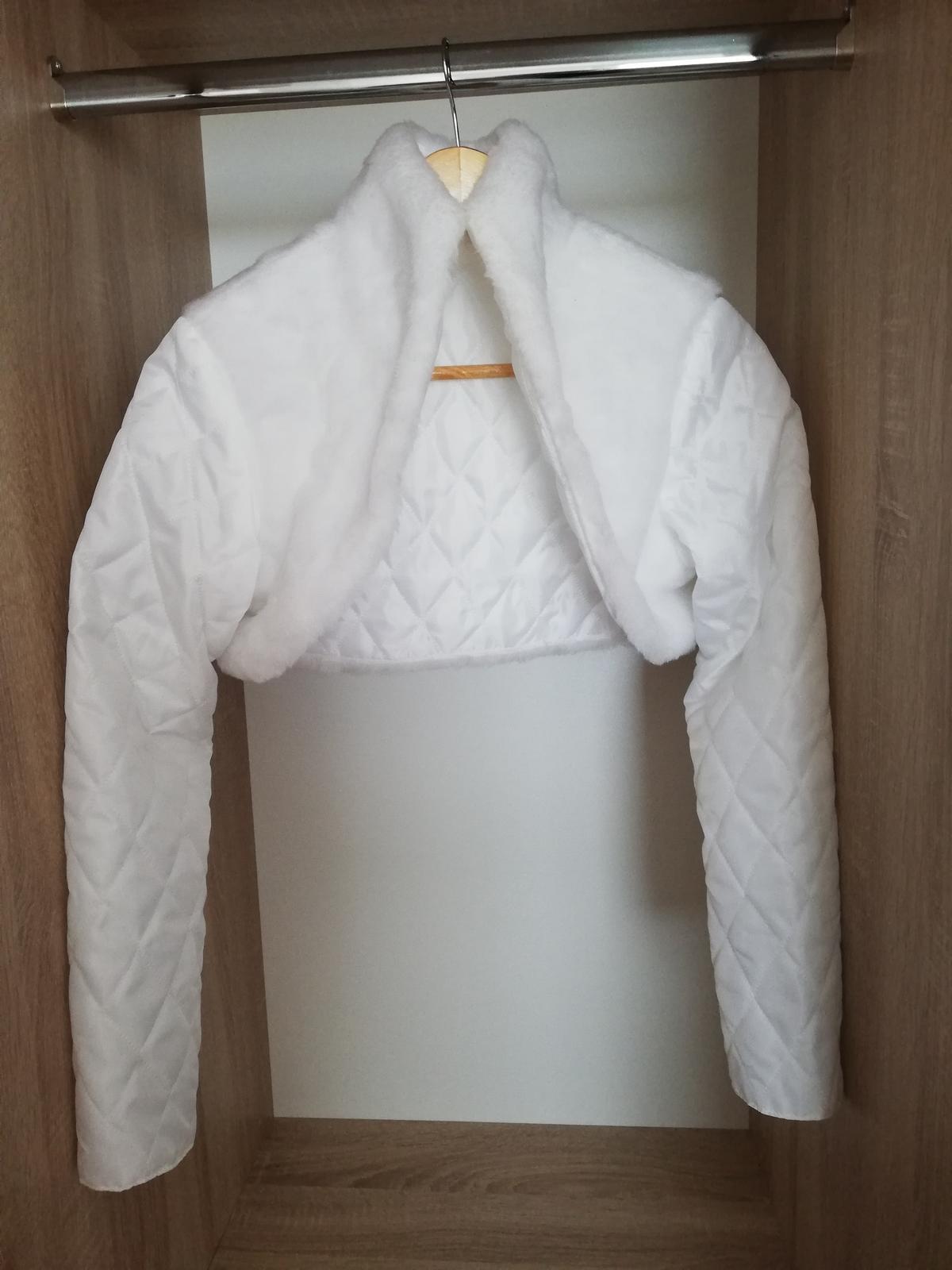 Svadobný kabátik - veľkosť 40 - Obrázok č. 4