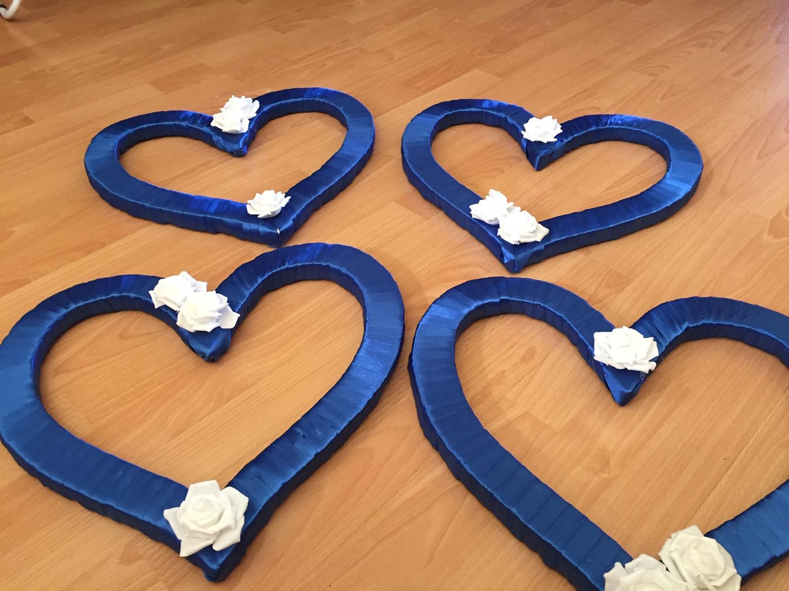 Dekoračné srdcia - kráľovská modrá - Obrázok č. 2