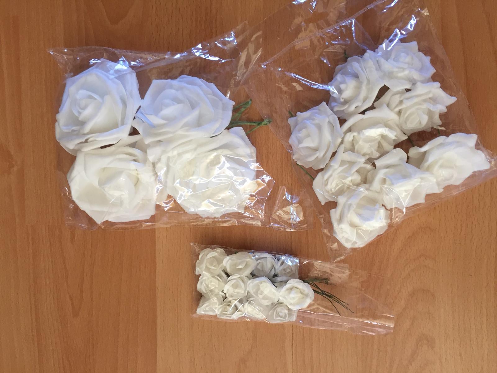 Umelé kvety - ruže - Obrázok č. 1