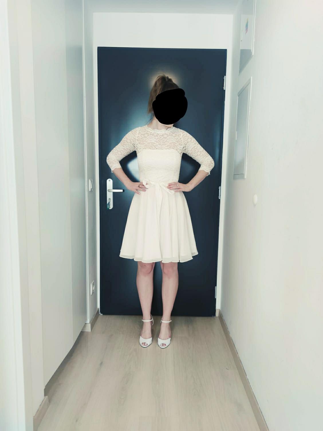 Krátke svadobné šaty/popolnočné šaty SWING - Obrázok č. 1