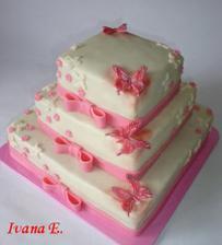 Tak to je on, můj dort..Místo růžové bude bordó