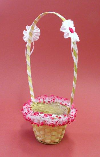 Rose wedding - košíček pre družičky