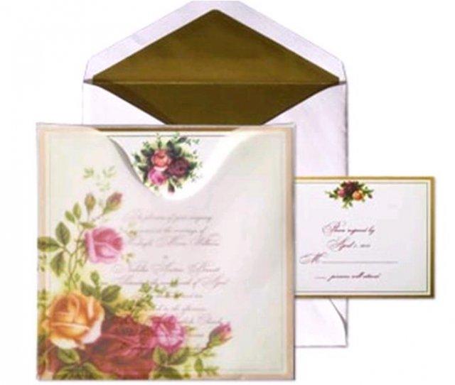Rose wedding - ružové oznámenie 3