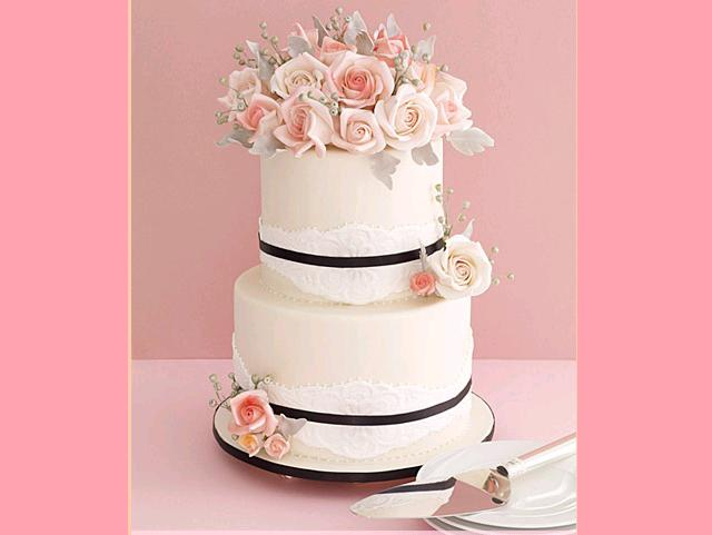 Rose wedding - pekná tortička