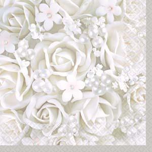 Rose wedding - ružičkové servítky