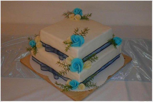 A tady je náš velký a chuťově vynikající dortík