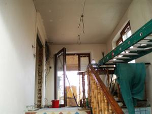 Schody a dvere na terasu