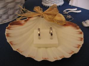 talířek na prstýnky - ještě obsypat pískem