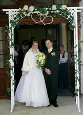 Na závěr je nutno projít svatební branou