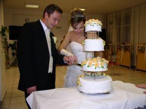 Svadobná torta. Prekvapenie od rodičov.