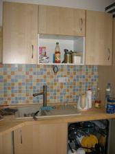 kuchyně s umyvadlem a myčkou