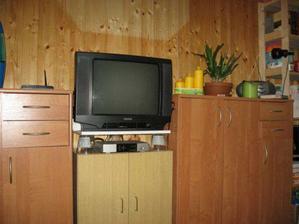 obývací stěna s TV