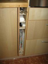 kuchyně - vyplnění mezery mini skříňkou