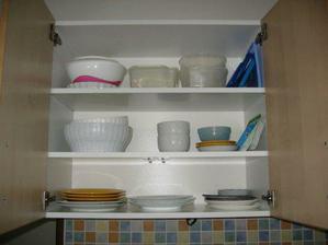 kuchyně - horní skříň s talíři