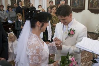 po krásném slibu jsme si vyměnili prstýnky