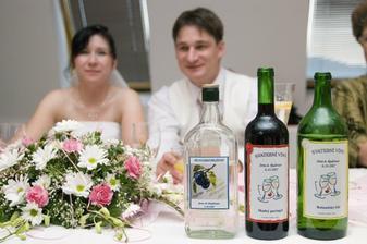 etikety na víně a slivovici - vlastní výroba