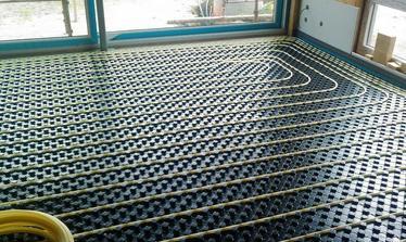 podlahové vytápění v celém domě
