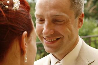 O svatbě jsem se do něj znovu zamilovala. :)
