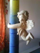 andílek na svíčce