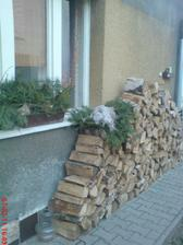 no dřevo nám ubylo...bude asi konec zimy