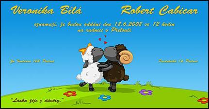 tohle je naše svatební oznámení:-))