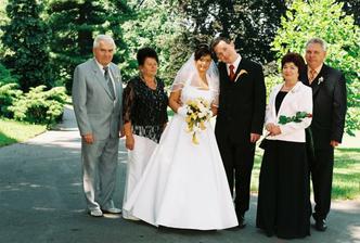 Fotka s rodiči.