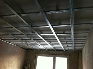 Konstrukcia na znizenie stropu