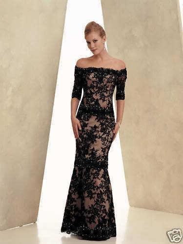 Společenské šaty - Krajkové černé společenské šaty -  46f456ac80a