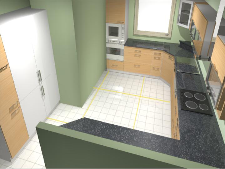 Moje představy ;-) - kuchyň č. 1