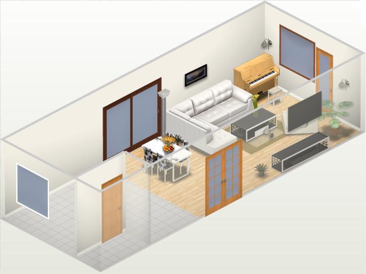 Moje představy ;-) - zhruba obývák, jen budou jiné okna ;-)