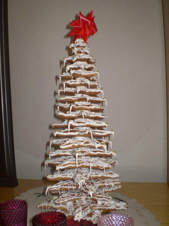 Moje výtvory - vánoční stromek z perníku