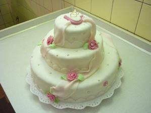 můj první svatební dort