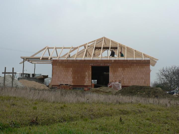 Střecha - pohled ze spodu