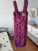 šaty krátke cyklaménové, 44