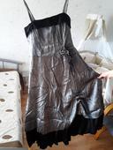 šaty strieborno čierne , 42