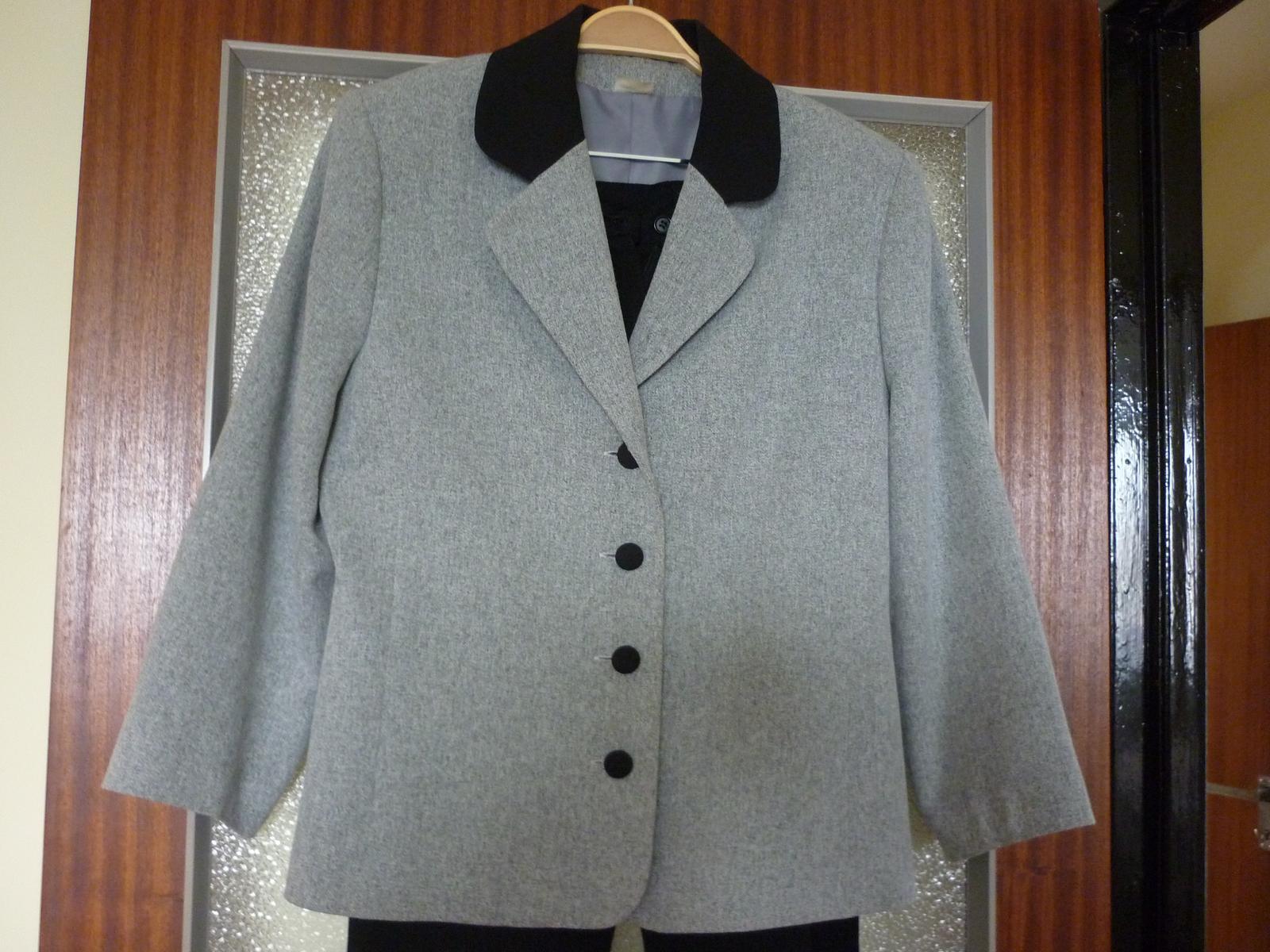 dámske sivé sako - Obrázok č. 1