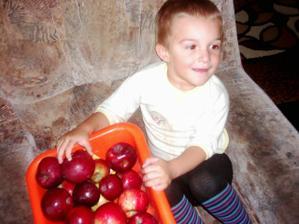 miluje jablíčka a netroškaří ještě že má to kolečko :-D