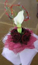 Má svatební kytice byla opravdu krásná
