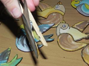 Výroba ptáčků na větev s fotkami.