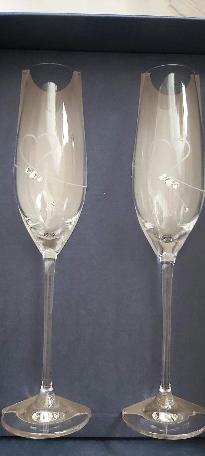 Svadobné poháre Swarovski Elements - Obrázok č. 1