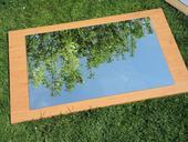 Zrkadlo na drevotrieske,
