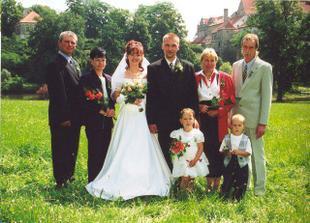 S rodiči, družičkou a družbou